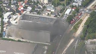 東京・多摩の建築現場で火災