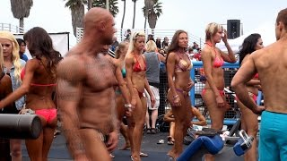 Backstage at a Muscle Beach Bodybuilding Contest thumbnail