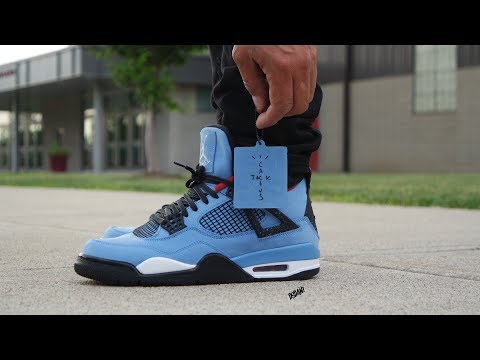 "AIR JORDAN 4 ""TRAVIS SCOTT"" CACTUS JACK! ""REVIEW & ON FEET!"