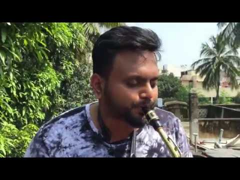 Flute Navin | Harris Jayaraj | Nenjukkul Peidhidum | Vaaranam Aayiram | Saxophone Cover | #NaNo