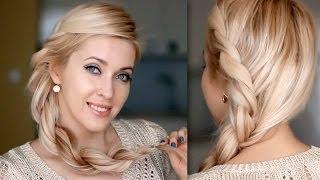 Прическа на длинные волосы: коса Рианны своими руками, быстро и легко(В этом видео я покажу вам шаг за шагом, как сделать стильную прическу в стиле Рианны: заплести обьемную косу..., 2014-05-15T08:00:01.000Z)