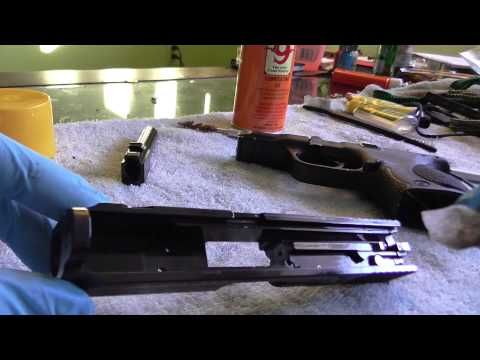 Smith and Wesson M&P Compact 9mm Cleaning Disassembly and Re-assembly Part 1 of 2