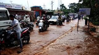 Floods in Hogenakal road 2