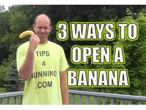 Three Ways to Open a Banana - Traditional, Monkey Style, and Ninja