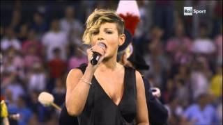 Emma Marrone - Stadio Olimpionico di Roma @ Inno di Mameli.MPG
