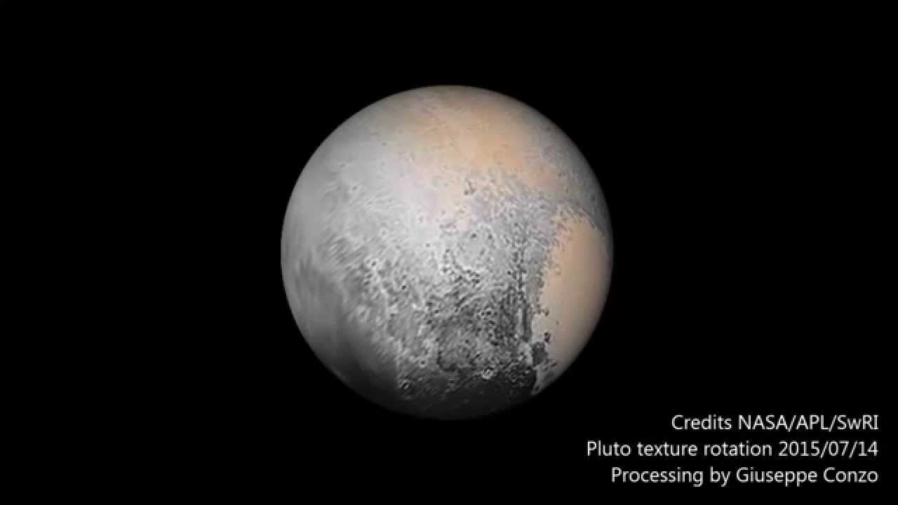 Pluto texture rotation