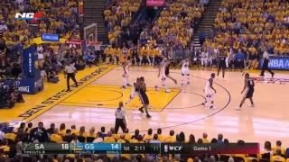 San Antonio Spurs vs Golden State Warriors   1st Half Highlights  Game 1  May 14 2017  NBA Playoffs