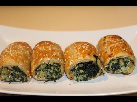 Pizza: Spinach & Ricotta Rolls