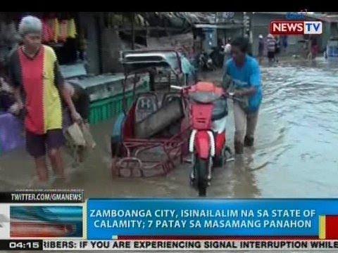 BP: Zamboanga City, isinailalim na sa state of calamity; 7 patay sa masamang panahon