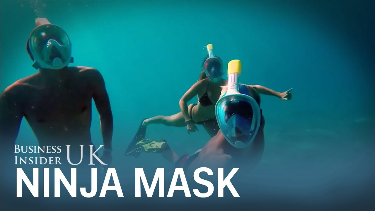 6230111b Full-face snorkel mask lets you breathe through your mouth - YouTube
