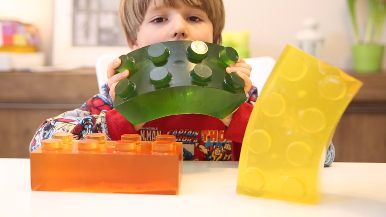 Giant Lego Gummy Brick - How To Make It - Good Food - YouTube