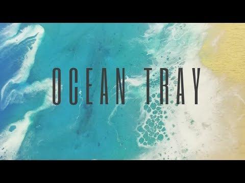 Wooden Ocean Resin Tray