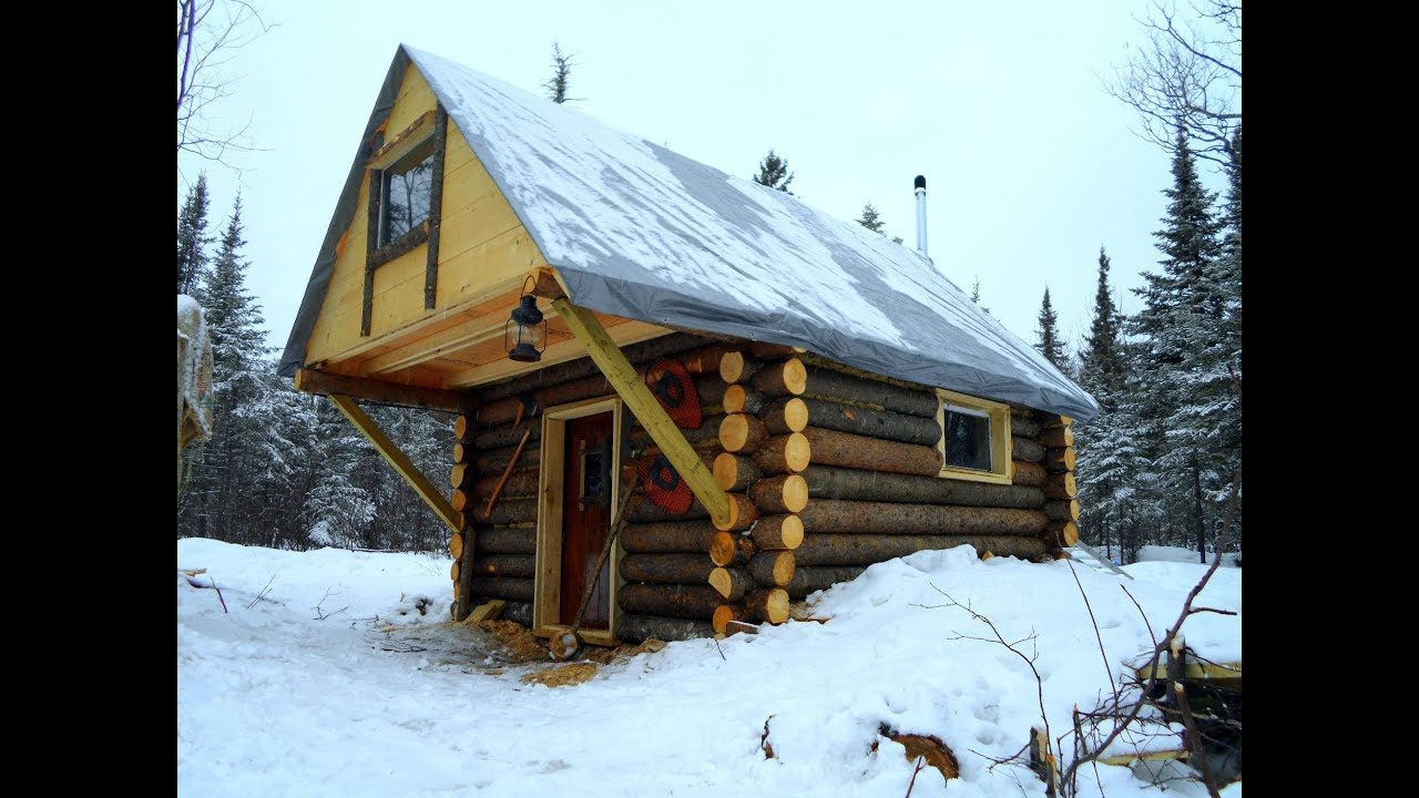 Cozy log cabin how i built it for less than 500 youtube for How to build a cabin on a budget