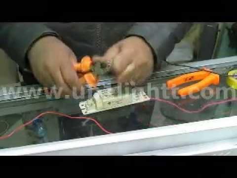 بالفديو طريقة توصيل اللمبة النيون 2017