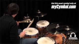 "Sabian 16"" AA Raw Bell Crash Cymbal - Brilliant (2160772B-1012314N)"