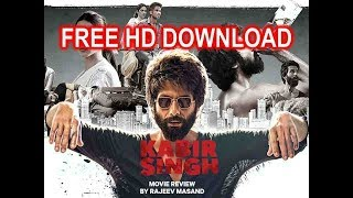 how to download kabir singh movie from  u torrent