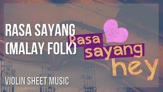 EASY Violin Sheet Music: How to play Rasa Sayang by Malay Folk