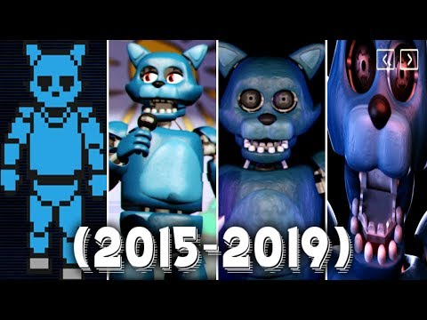Evolution of OLD CANDY in Five Nights at Candy's Remastered (2015-2019)