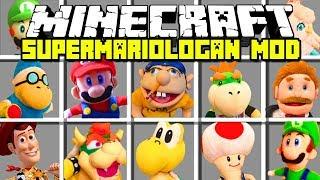 Minecraft SUPERMARIOLOGAN MOD! | JEFFY, MARIO, LUIGI, BOWSER & MORE! | Modded Mini-Game