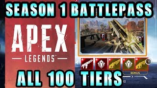 All 100 Tiers Apex Legends Battle Pass Season 1 With New Hero Added Octane