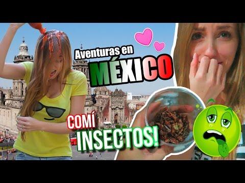 ME BAÑÉ EN SALSA PICANTE Y ME OBLIGARON A COMER INSECTOS EN MÉXICO! | Katie Angel