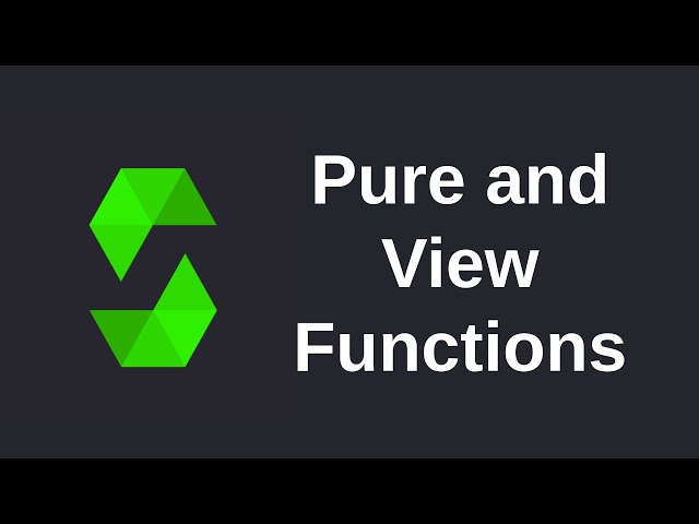 Learn Solidity (0.5) - View and Pure Functions