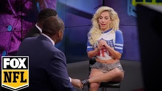 Lady Gaga talks Super Bowl Halftime Show with Michael Strahan and Curt Menefee | FOX NFL SUNDAY