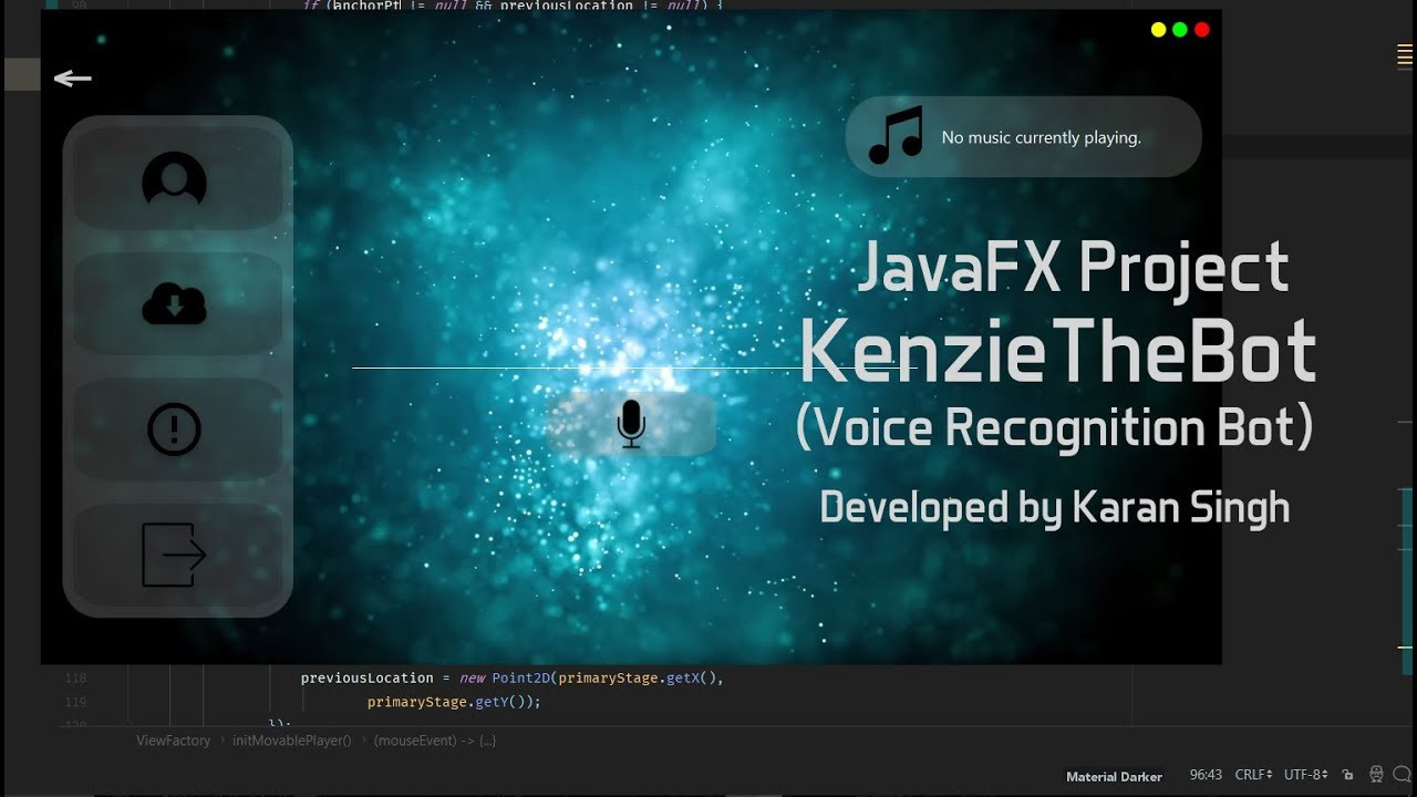 JavaFX Project: KenzieTheBot   Personal Assistant