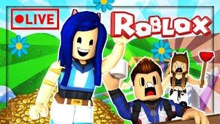 ¡MI ROBLOX MOM ME REJEC! Roblox Livestream ⚡️