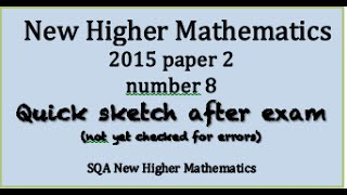 2015 new Higher Mathematics paper 2 no. 8