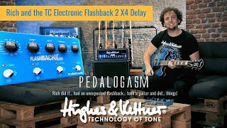 The brand new TC ELECTRONIC FLASHBACK 2 X4 DELAY with Black Spirit 200