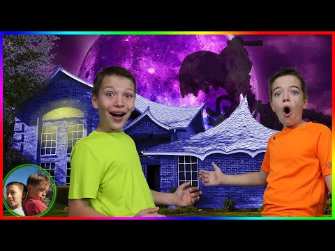 Last To Leave Haunted House Wins!  Smasher Epic Dino Egg!