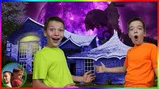 Last To Leave Spooky Haunted House Wins!  Smasher Epic Dino Eggs!
