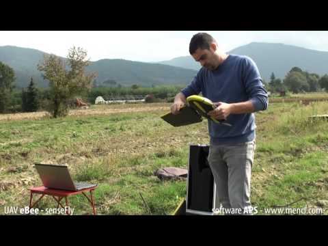APS photogrammetric cartographic software and senseFly drone - Castle of Montecchio