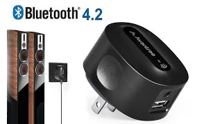 Avantree How to- AptX LOW LATENCY Bluetooth Music Receiver Adapter for Home Stereo- Roxa Plus