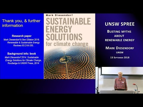 UNSW SPREE 201809-13 Mark Diesendorf - Busting myths about renewable energy