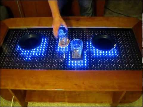 Reactive LED Coffee Table - Arduino
