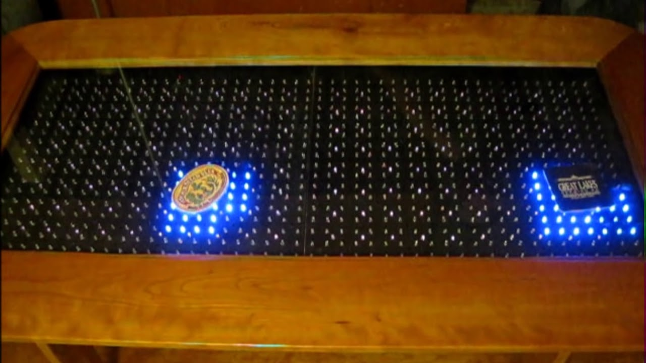 Reactive led coffee table arduino youtube - Table basse avec led ...