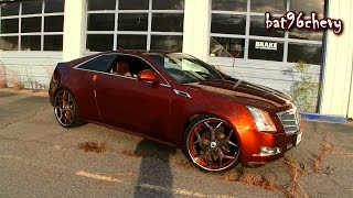 "Candy Orange 2012 Cadillac CTS Coupe on 24"" Asanti Wheels - 1080p HD"