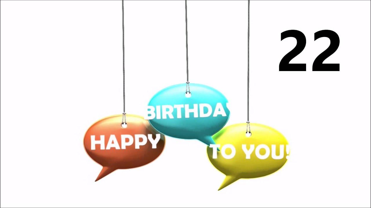 Herzlichen Gluckwunsch Zum Geburtstag 22 Youtube