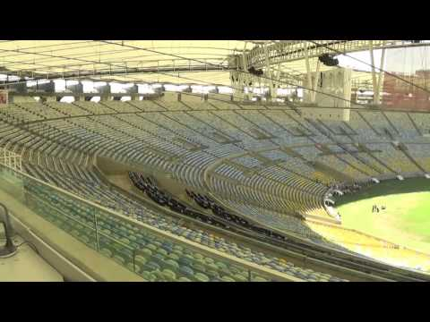 inside the massive Maracana Stadium in Rio de Janeiro (December 15th, 2015)
