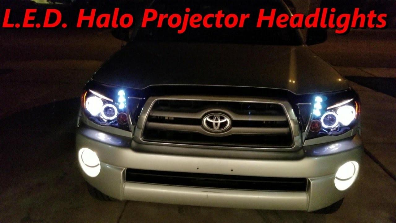 Diy Tacoma 2010 05 L E D Halo Projector Headlights Amazon