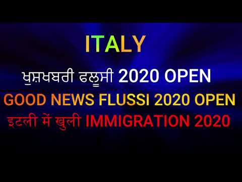 GOOD NEWS OPEN FLUSSI 2020 IN ITALY