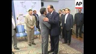 Al-Maliki with vice-president; Ahmadinejad, head of judiciary