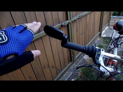 Посылка из китая зеркала и перчатки для велосипеда