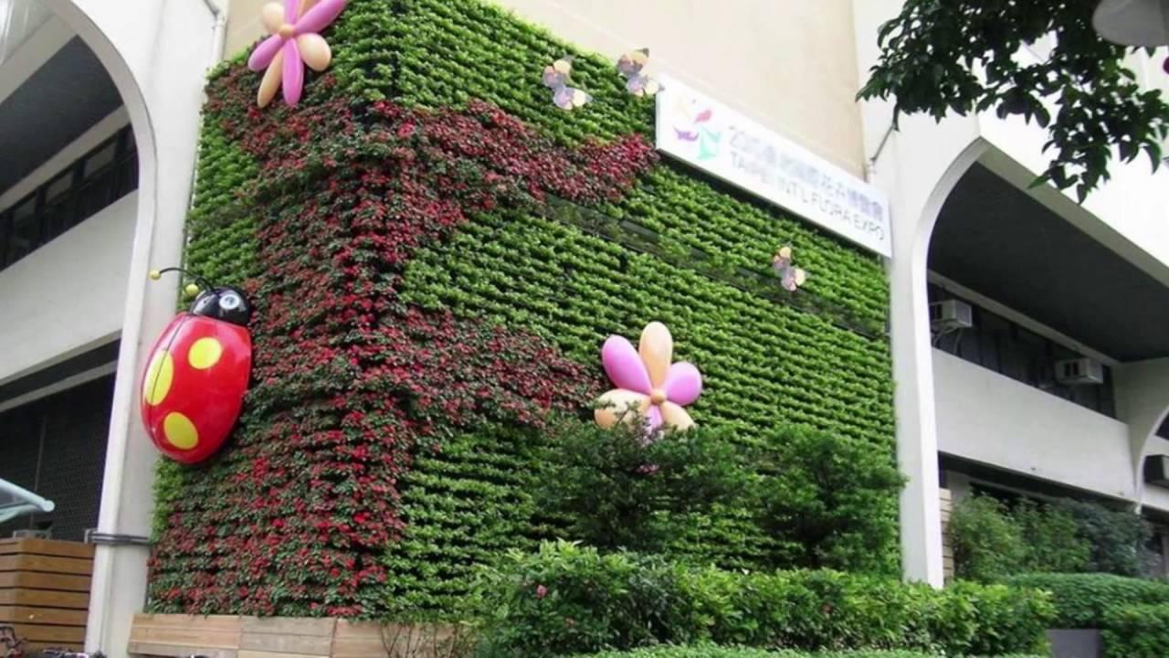 Muros verdes artificiales youtube for Materiales para un muro verde