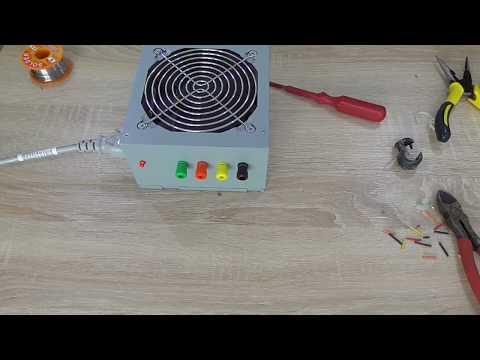 Laboratórny zdroj z PC zdroja(Lab bench power supply)