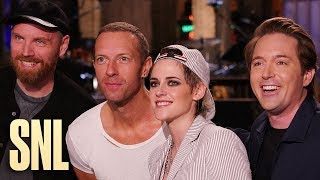 Can Someone Please Take a Picture of Kristen Stewart, Coldplay & Beck Bennett? - SNL