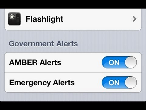 turn off amber alert iphone iphone how to turn on alerts amp emergency 18098