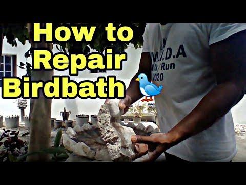 How To Repair A Broken Concrete Bird Bath